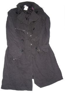 Damen Trenchcoat Jacke Mantel schwarz NEU Gr. 40 44 46 ( K932 + K948
