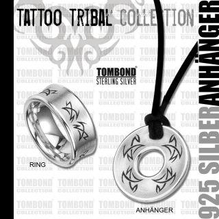 925 SILBER ANHÄNGER MÄNNER Tribal Tattoo Gravur gratis