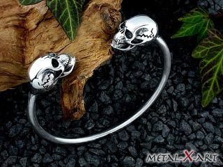 925 Sterling Silber, Totenkopf/Skull, Schädel, Armreif, Armspange