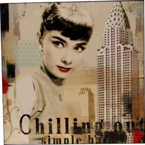 Hochglanz Druck Audrey Hepburn Bild 58x58