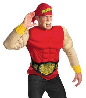 Adult Hulk Hogan Professional Wrestler Halloween Fancy Dress Costume