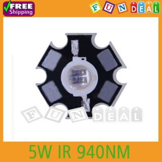 5W Infrared IR 940NM High Power LED Light Emitter with 20mm Star