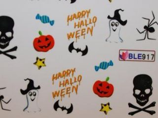 Nail Art Sticker Tattoo One Stroke BLE 917 Halloween