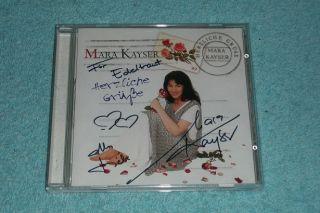 Mara Kayser CD mit AUTOGRAMM signiert signed autographed   Herzliche