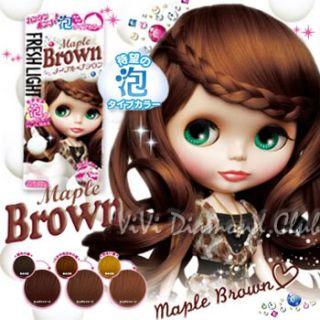 FRESH LIGHT Japan Blythe Bubble Hair Color MAPLE BROWN