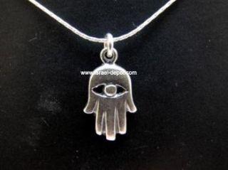 Echt 925 Silber Amulett Fatima Hand Hamsa Halskette