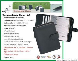 A7 ZEITPLANER TERMINKALENDER 2013   13 Varianten   Kalendereinlage