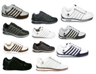 Swiss RINZLER SP Herren Leder Sneaker Schuhe Turnschuhe Schwarz