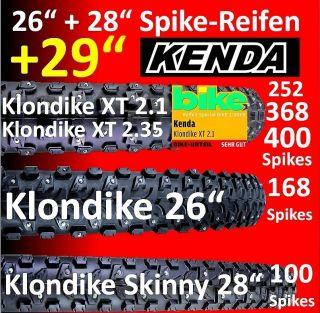 Spike Reifen Kenda Klondike 2,35/2.1/Skinny/K1013/K946/K1014/MTB