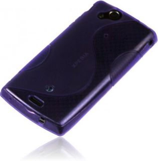 Wave Line Rubber Silikon Case für Sony Ericsson Xperia ARC S Handy