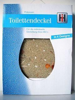 TOP DESIGN WC Sitz SAND Beach Toilettendeckel Deckel
