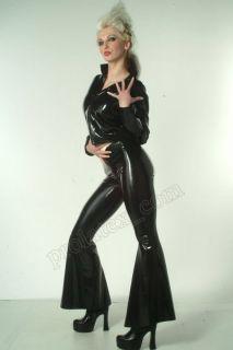 Latex Gummi Jeans Hose Schlaghose Latexa Gummihose Rubber Trousers Gr