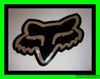 Original Fox Racing Aufkleber Sticker Chrom MTB BMX