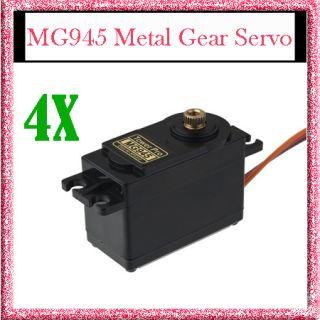 4X Metal Gear Digital Servo MG945 Rc Car Boat MG 945