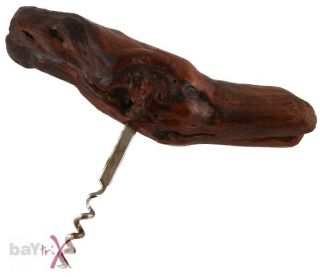 Korkenzieher Weinstock aus Holz Wurzel Flaschen Wein