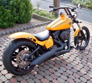 Harley Davidson Softail RockerC Night Rod Train Custom Umbau