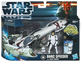 Star Wars Episode III Hasbro Fahrzeug Clone Trooper with BARC Speeder