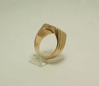 Ring 750 18 kt. Gold Gelbgold Siegelring PK KP zeitlos