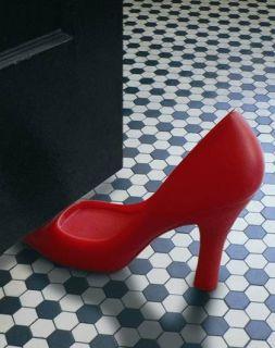 Türstopper High Heels rot / Tür aufhalten mal stylisch