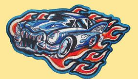 957A Aufnäher Tattoo Gothic Hot Rod US Car Backpatch