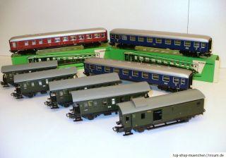 Märklin H0 Anlage 4 Loks 22 Wagons Gleise Trafo 77 Teile 50ger/60er