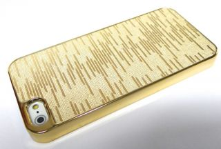 iPhone 5 Cover METALLIC GOLD CHROM LOOK schale HÜLLE CASE strass gold