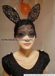Lady Gaga Haarreif Bunny Ohren Gothic Schleier Kostüm Halloween
