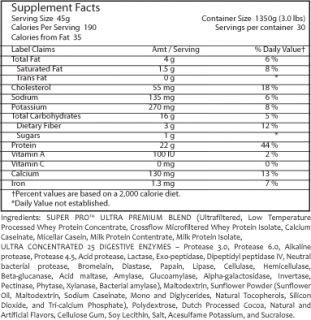 bpi sports   Super Pro Multi Blend Protein 1350g Enzyme