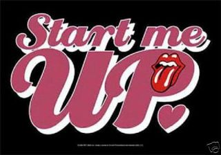 ROLLING STONES ZUNGE tongue START ME UP Poster Fahne