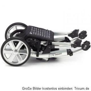 Römer Britax B Smart 4 Kombi   Kinderwagen Black & Kinderwagenaufsatz