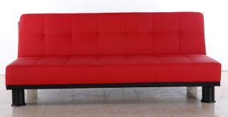 Sofa Couch Melbourne 3er Sofa Schlafsofa, braun, weiß, schwarz, rot