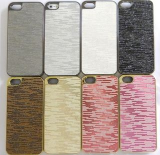 iPhone 5 Cover METALLIC Titan CHROM LOOK schale HÜLLE CASE strass