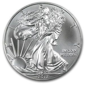 999 American Silber Silver Eagle Liberty 2012 1 oz Ag NEU / TOP