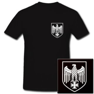 Reichsadler Alder Stahlhelm WH Biker T Shirt *993
