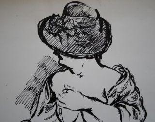 George GROSZ  original TUSCHE ZEICHNUNG , 59 x 39 cm , UNIKAT