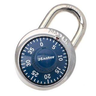 Master Lock 1506D 3 Digit Dialing Lock, Blue Dial