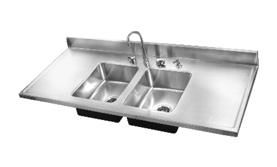 Just Double Bowl Royalty Cabinet Sink Top, DM 60 29 (Without Tappings