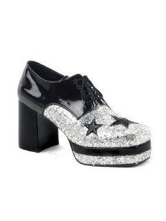 Mens 70s Disco Glitter Platform Shoes   Mens M Shoes