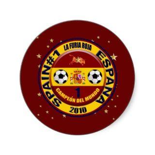 Campeón del mundo España futbol 2010 Round Sticker