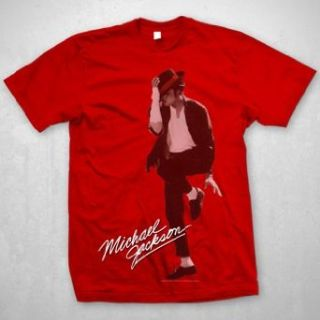 Michael Jackson   Red Dancer At Large Mens S/S T Shirt In