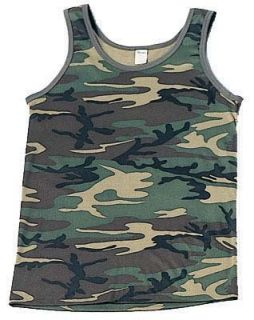 Desert Digital Camouflage Military Tank Top Clothing
