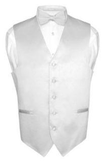 Mens Dress Vest BOWTie SILVER GRAY Bow Tie Set for Suit