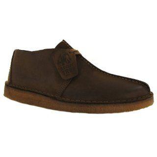 com Clarks Original Desert Trek Dark Brown Leather Mens Shoes Shoes