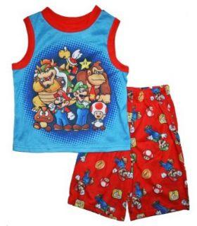 Super Mario Brothers Boys Short Pajama Set Clothing