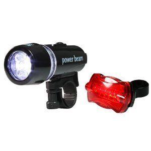 Waterproof LED Bike Bicycle Head Light + Rear Flashlight