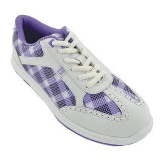 Brunswick Ladies Plaid Bowling Shoes  Purple/White