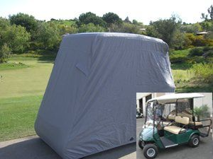 Deluxe 4 Passenger Golf Cart Cover roof 80L Grey, Fits E