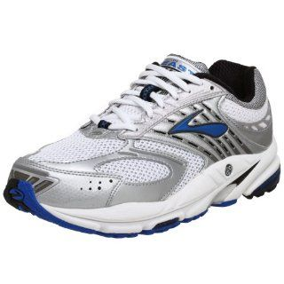 com Brooks Mens Beast Running Shoe,White/Silver/Crest,10 EEEE Shoes