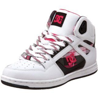 DC Womens Rebound Hi Skate Shoe,White/Crazy Pink/Black,11 M US Shoes