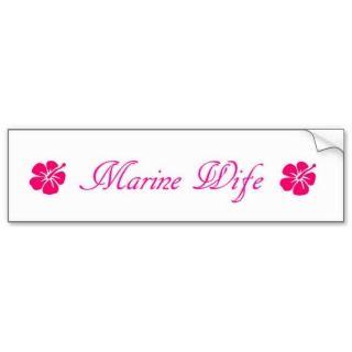 simple marine wife bumper stickers